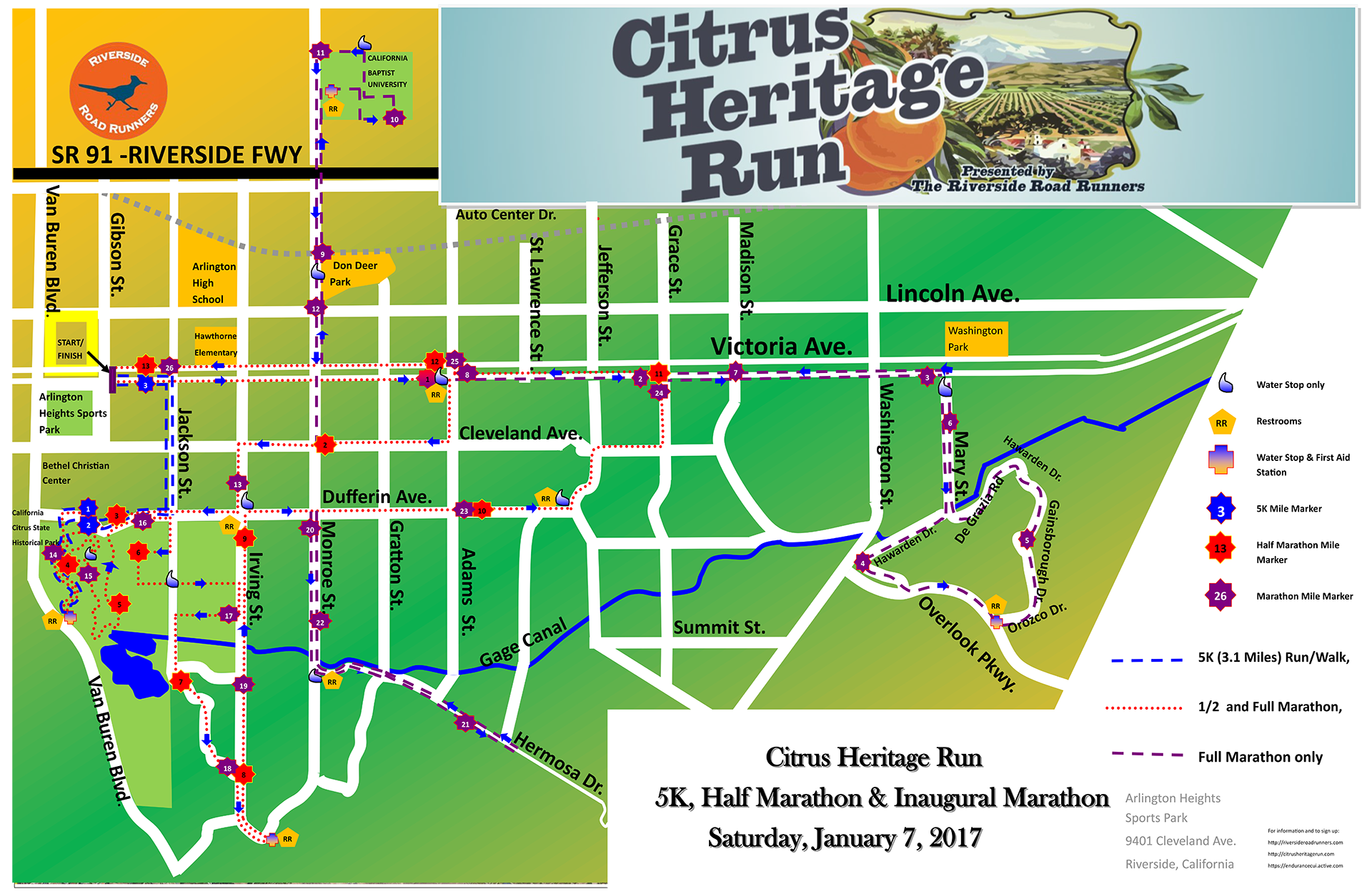 Citrus Heritage Run 2016 Course Map